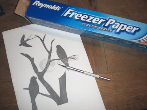 Freezer Paper und Papiermesser