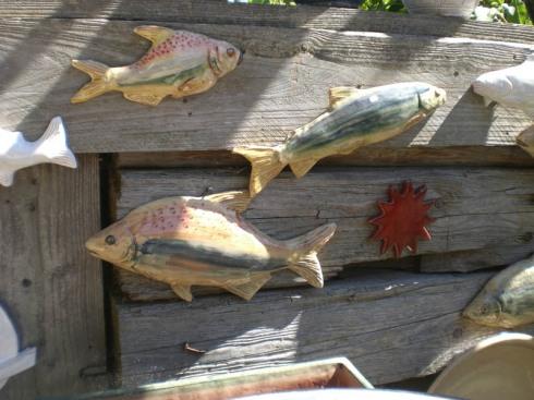 Getöpferte Fische - Inseltöpferei Frauenchiemsee
